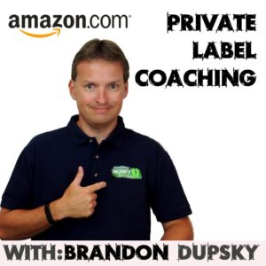 amazon private label coaching with brandon dupsky
